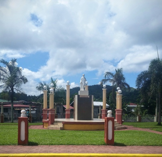 Statue of José Rizal in the plaza